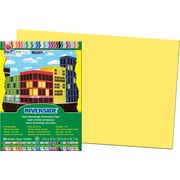 """Pacon Construction Paper 12"""" x 18"""", Yellow, 50 Sheets"""