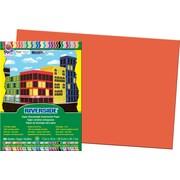 """Pacon Construction Paper 12"""" x 18"""", Orange, 50 Sheets"""