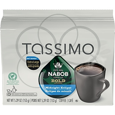 Tassimo Nabob Midnight Eclipse T-Discs, Bold, 153G, 12/Pack