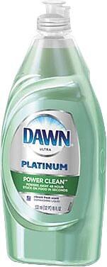 Dawn Platinum Dish Detergent, Vibrant Fresh Scent, 18 oz. 1548841