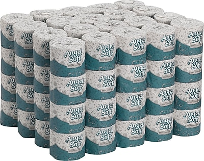 Angel Soft Professional Series Toilet Paper, 2-Ply, White Premium Embossed, 450 Sheets/Roll, 80 Rolls/Case (16880)