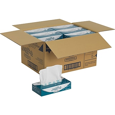 Angel Soft Ultra Professional Series™, Whtie Premium Facial Tissue, Flat Box, 125 Sheets/Box, 30 Boxes/Case (48560)