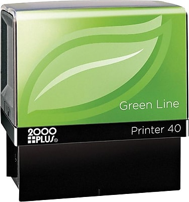 Cosco Custom Green Line Series Self-Inking Stamp, 13/16