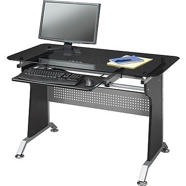 Star Quality Sabik Glass Metal Computer Desk Staples
