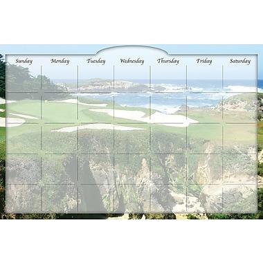 Biggies- Dry Erase Stickie Monthly Calendar, Golf Ocean, 48
