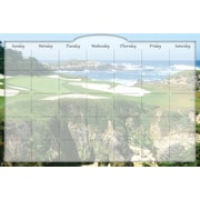 Biggies- Dry Erase Stickie Monthly Calendar, Golf Ocean, 36""