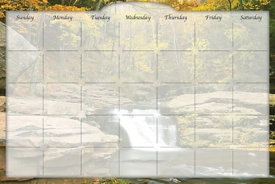 Biggies- Dry Erase Stickie Monthly Calendar, River Falls, 36