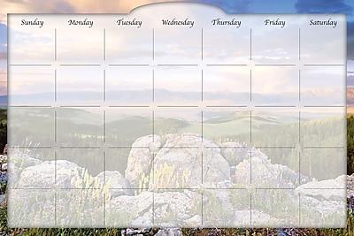 Biggies- Dry Erase Stickie Monthly Calendar, Sunrise Valley, 36