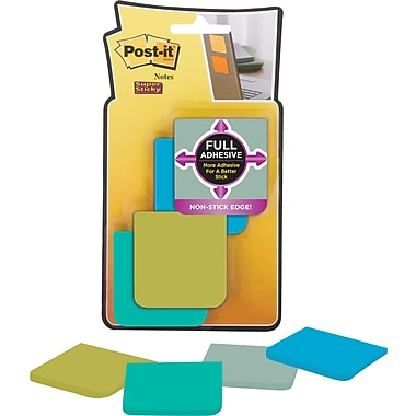 Post-it® Super Sticky Full Adhesive Notes, Bora Bora Collection, 2