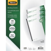Fellowes Crystals Binding Presentation Covers, Oversize,  25 Pack, Clear