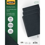 Fellowes® Oversized Presentation Binding Covers, Black, Linen