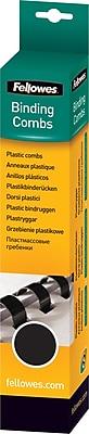 Fellowes® Plastic Comb Bindings, Black, 1/2
