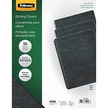 Fellowes Expressions Binding Presentation Covers, Oversize, Black