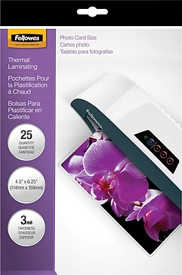 Fellowes® Laminating Pouches, 3mm, 4x6