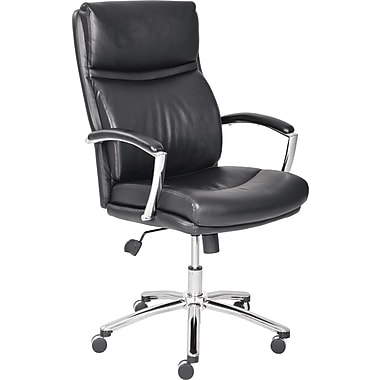 Lane Madison Leather Managers Office Chair, Fixed Arms, Black (45468)