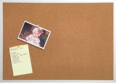 Staples® Cork Bulletin Board, Aluminum Frame, 17