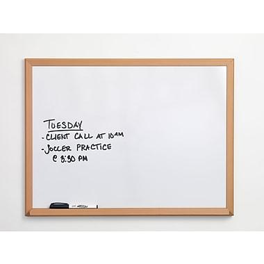Staples®, 2' x 3', Melamine Dry-Erase Board with Oak Frame (75223B)