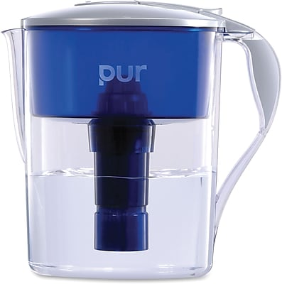 Pur 11 Cup Water Filter Pitcher, Blue, Gray