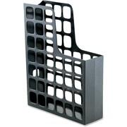 Oxford Decofile Magazine Files, Black, Plastic, Paper Stock Exterior, 1 Each