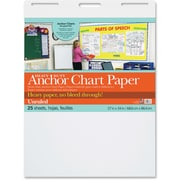 "Pacon Heavy-duty Anchor Chart Paper, 25 Sheets 27"" x 34"", 4Carton, White Paper"