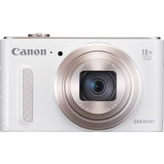 Canon® PowerShot SX610 HS Digital Camera, 20.2 MP, 18x Optical Zoom, White