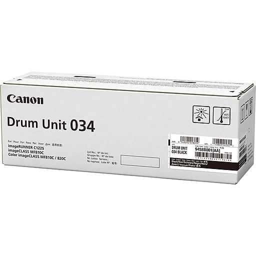 Canon Drum Unit 034 Black for MF820Cdn and MF810Cdn