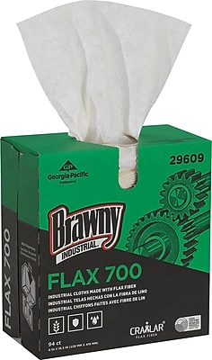 Brawny® Industrial FLAX 700 Medium Duty Cloths, 94 Cloths/Box, 10 Boxes/Carton (29609)