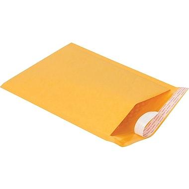 Staples #1 Bubble Mailer, Gold Kraft, 7-1/8