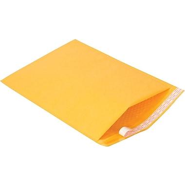 Staples #6 Bubble Mailer, Gold Kraft, 12-1/2