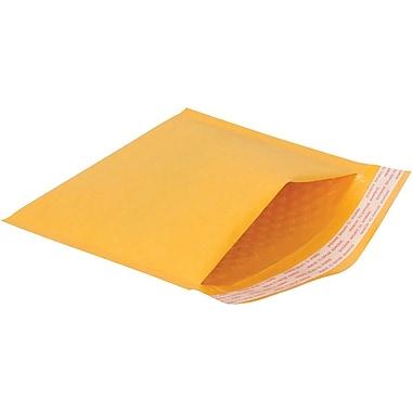 Staples CD Bubble Mailer, Gold Kraft, 7-1/4