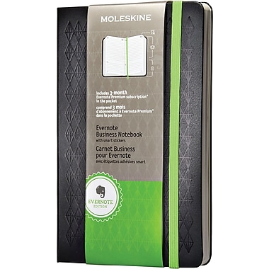 Moleskine Evernote Business Notebook with Smart Stickers, Large, Black, Hard Cover 5