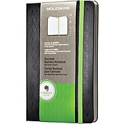 "Moleskine Evernote Business Notebook with Smart Stickers, Large, Black, Hard Cover 5"" x 8-1/4"""