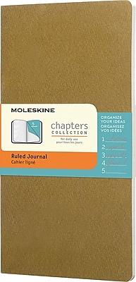 Moleskine Slim-Pocket Soft-Cover Ruled Chapters Journal 3