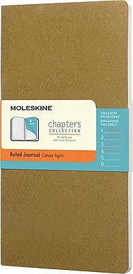 Moleskine Chapters Journal Slim Medium Ruled Soft Cover 3 3/4