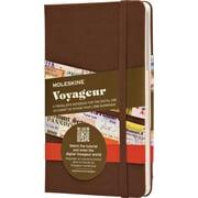 "Moleskine Voyageur Traveller's Notebook, Hard Cover, Nutmeg Brown 4-1/2"" x 7"""