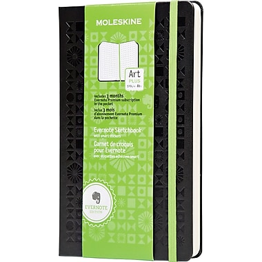 Moleskine Evernote Sketchbook with Smart Stickers, Large, Squared, Black, Hard Cover 5