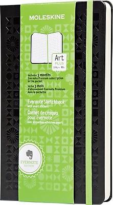 Moleskine Evernote Sketchbook with Smart Stickers, Large, Squared, Black, Hard Cover 5