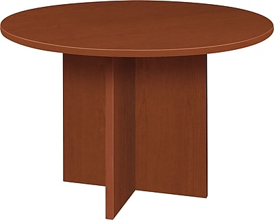 basyx by HON® BL Series Round Conference Table, Medium Cherry Finish, 48