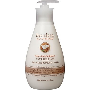 Live Clean - Savon liquide régénérateur, 500 ml, lait de noix de coco (33234)