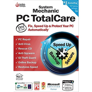 iolo System Mechanic PC TotalCare - Unlimited PCs in Home for Windows (1 User) [Download]