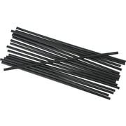 "Unwrapped Stir-Straws, 5 1/4"", Black, 1000/pack, 10/carton"