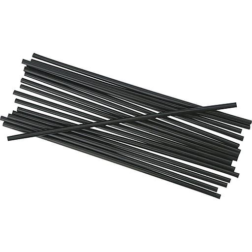 "Unwrapped Stir-Straws, 5 1/4"", Black, 1000/pack"