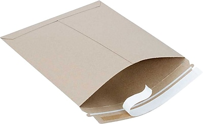 SI Products Fiberboard Mailers, Traditional Seam, #5, Golden Brown, 10 1/2
