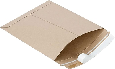 SI Products Fiberboard Mailers, Traditional Seam, #4, Golden Brown, 9