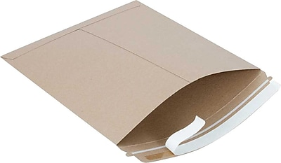 SI Products Fiberboard Mailers, Traditional Seam, #6, Golden Brown, 12-1/2