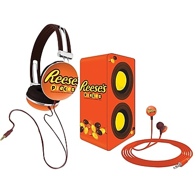 Candeez 3-in-1 Stereo Combo Pack (Headphones, Ear-Buds and Speaker) - Reese's