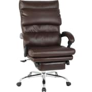 Brown Bonded Leather Recliner Chair
