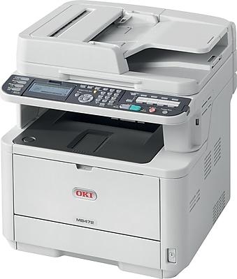 OKI® MB472W Wireless Multifunction Mono Laser Printer (62444801)