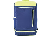 Designed By Students Back2Back School Backpack Blue/Neon Green