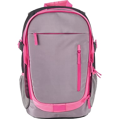 Designed By Students Accordion Backpack Grey/Pink